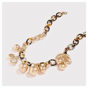❤️EUC JCrew Cherry TortoiseShell GoldLink Necklace